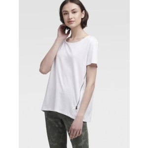 DKNYTee With Zip Detail