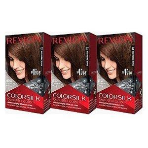 $8.52 近期好价Revlon Colorsilk 棕色染发剂 3盒