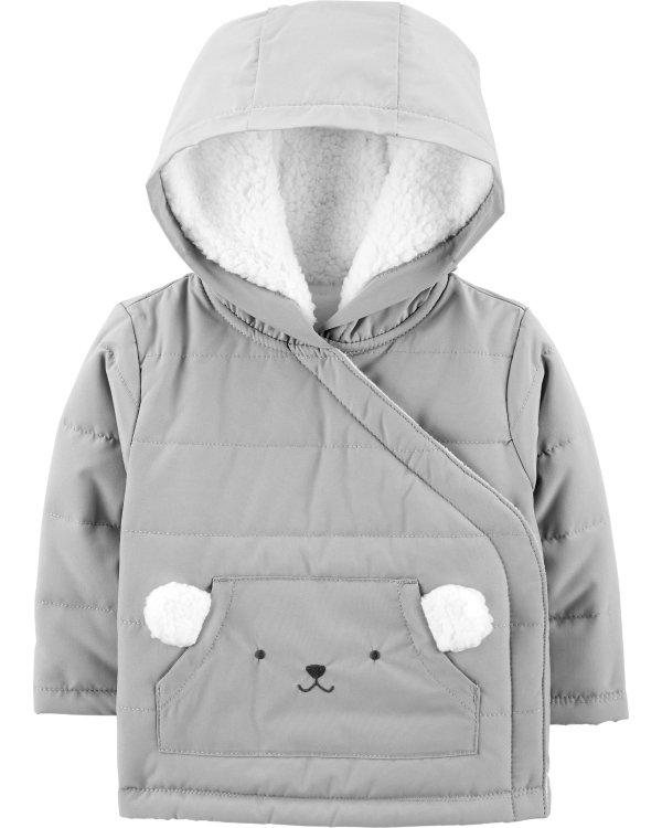婴儿抓绒保暖外套