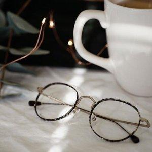 Andromeda | Patterned Metal Eyeglasses | Prescription Glasses Online | Dualens