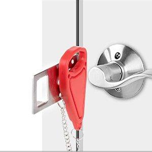 AceMining Portable Door Lock Home Security Door Locker