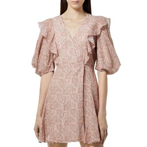 The KooplesGet $25 GC,Spend$200 Get $50 GCPrinted Short Wrap Dress