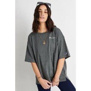 Champion灰色oversize T恤