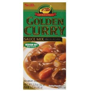 S&B Golden 经典日式咖喱酱中辣3.2oz