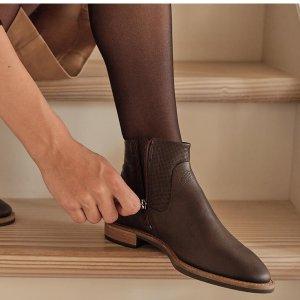 4折起+额外8.5折 皮鞋$127即将截止:ECCO 好价特卖 封面踝靴$127 (原价$260) 芭蕾鞋$84