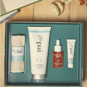 7折+3小样英国第一有机品牌 专为敏感星人打造 Pai Natural Treasures护肤套装