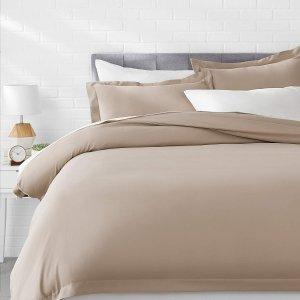 $13起 (原价$22.99)AmazonBasics 超轻柔软被套+2枕套,多尺寸可选