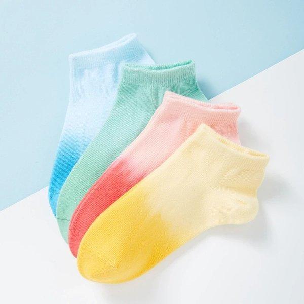 女式糖果渐变色短袜
