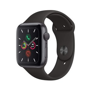AppleWatch Series 5(GPS,44mm)- 太空灰铝制表壳 配黑色运动表带