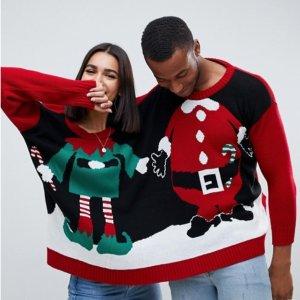 半价起 £20就收ASOS 圣诞毛衣上新 感受英国文化必备,好看不贵!