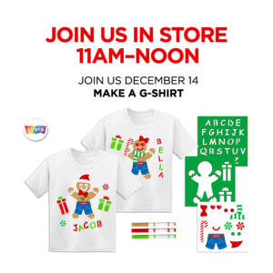 Free! Make a Levi's G-shirtJCPenney Kids Zone Activity on December 14th, 2019