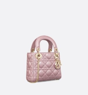 Mini Lady Dior lambskin bag - Bags - Woman | DIOR