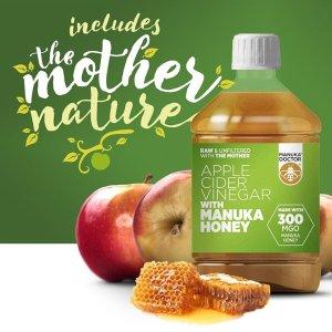 低至3折 蜂蜜苹果醋£7.5收Manuka Doctor官网 精选蜂蜜、蜂毒护肤品热卖