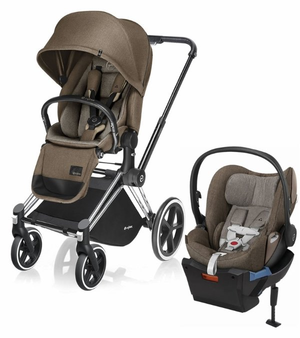 Priam Lux 全地形童车 + Cloud Q Plus 婴儿安全座椅旅行套装