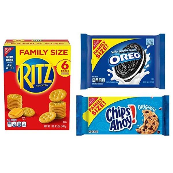 奥利奥+趣多多+乐之曲奇饼干 家庭装 共3袋