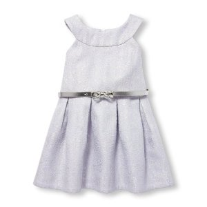 蝴蝶结腰带连衣裙