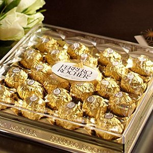 降价$9.52  一颗只需$0.4Ferrero Rocher 费列罗巧克力礼盒装 24枚