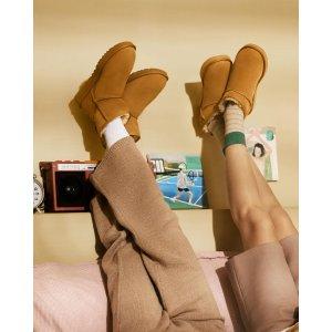 低至3折 粉色中筒$19UGG 雪地靴、毛毛拖鞋大促 经典款多色可选