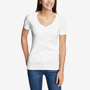 Eddie BauerFavorite Short-Sleeve V-Neck T-Shirt