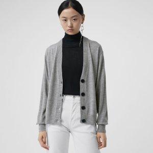Burberrylogo羊毛开衫