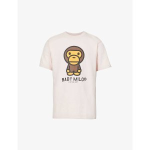 A Bathing ApeBaby Milo graphic-print cotton-jersey T-shirt