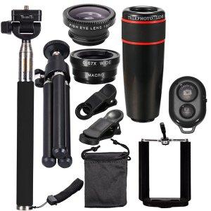 4.5折 现价$11.95 (原价$26.89)新品:10件套摄影通用手机镜头套装半价优惠
