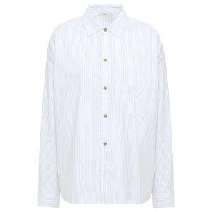 VINCE.Pinstriped cotton-blend poplin shirt