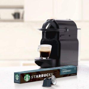 8.5折 平均€0.28/个Starbucks X Nespresso 胶囊咖啡热卖 80颗€22.64 120颗€33.97
