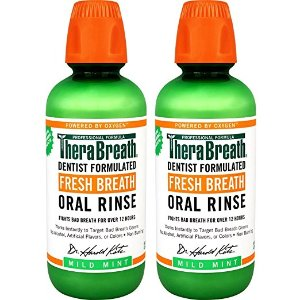 $14.61TheraBreath Dentist Recommended Fresh Breath Oral Rinse 16 Ounce (Pack of 2)