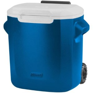 $1416-Quart Coleman Personal Wheeled Cooler (Blue)
