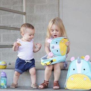7.5折 独角兽双肩包$18.75Skip Hop 儿童餐具、玩具日用等 收小鲸鱼洗发器、零食盒