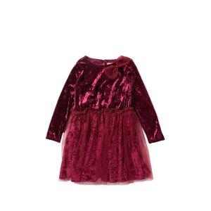 84fd0b440c20 Beetle & ThreadVelvet Top Sparkle Tulle Dress (Toddler & Little Girls)