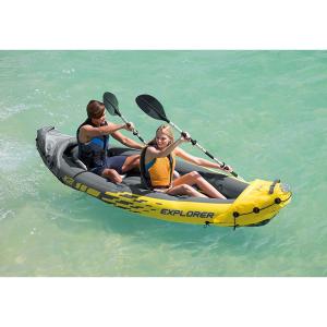 $125.99(原价$138.53)Intex 探索者2人充气皮划艇套装,从此你就是有船的人
