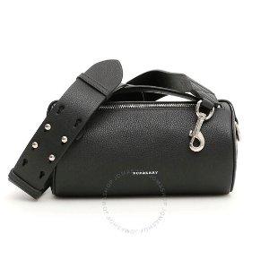 Burberry$50 off $1000Black Ladies Cylinder Leather Shoulder Bag