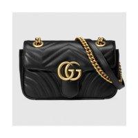 Gucci GG Marmont 小号单肩包 经典黑