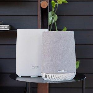 限时闪购 5.1折特价 现价€239.95NETGEAR Orbi RBK50V全屋WiFi系统+哈曼卡顿智能音箱套装