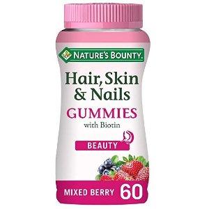 Nature's Bounty保护头发,皮肤和指甲软糖