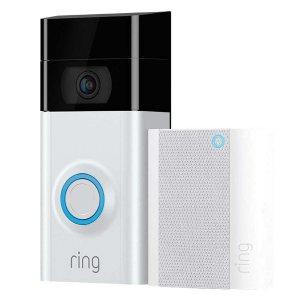 开抢:Ring Video Doorbell 2 智能门铃 + 警报器
