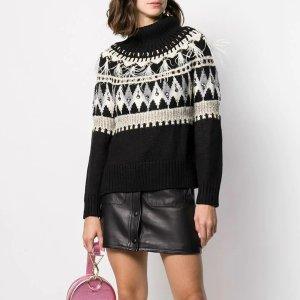 Twin-Set黑色印花毛衣