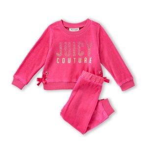 低至1.4折+免邮 上新Juicy Couture儿童服饰热卖 做个粉嫩的小公举