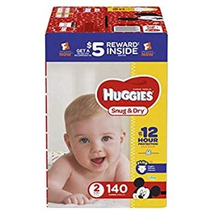 Amazon.com: HUGGIES Snug & Dry Baby Diapers, Size 2 (fits 12-18 lbs.), 246 Count, ECONOMY PLUS (Packaging May Vary): Health & Personal Care