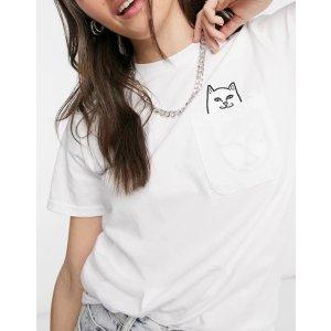 仅剩M码!白色口袋T恤