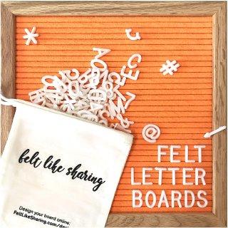 $19.16Felt Like Sharing Vivid Orange Felt Letter Board 10x10 Inches. Changeable Letter Boards Include 300 White Plastic Letters & Oak Frame