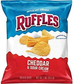 $9.66(原价$14.38) 一袋仅需$0.24Ruffles 土豆薯片 Cheddar Sour Cream, 1oz  40袋
