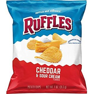 $13.13(原价$16.13) 一袋仅需$0.27Ruffles 土豆薯片 Cheddar Sour Cream, 1oz  40袋