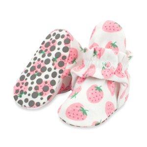 ZutanoStrawberries Organic Cotton Gripper Baby Bootie