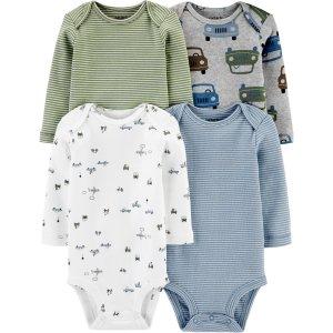 Carter's婴儿长袖包臀衫4件套