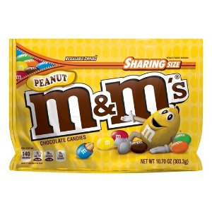 M&M'S 牛奶花生巧克力糖 10.7oz