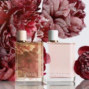 返$30 + 送logo手袋、4件套Burberry 英伦香氛 入少女心Her香水、My系列