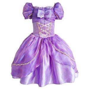 7.8折 $17.15收女童梦幻紫公主蓬蓬纱裙,万圣节超美装扮